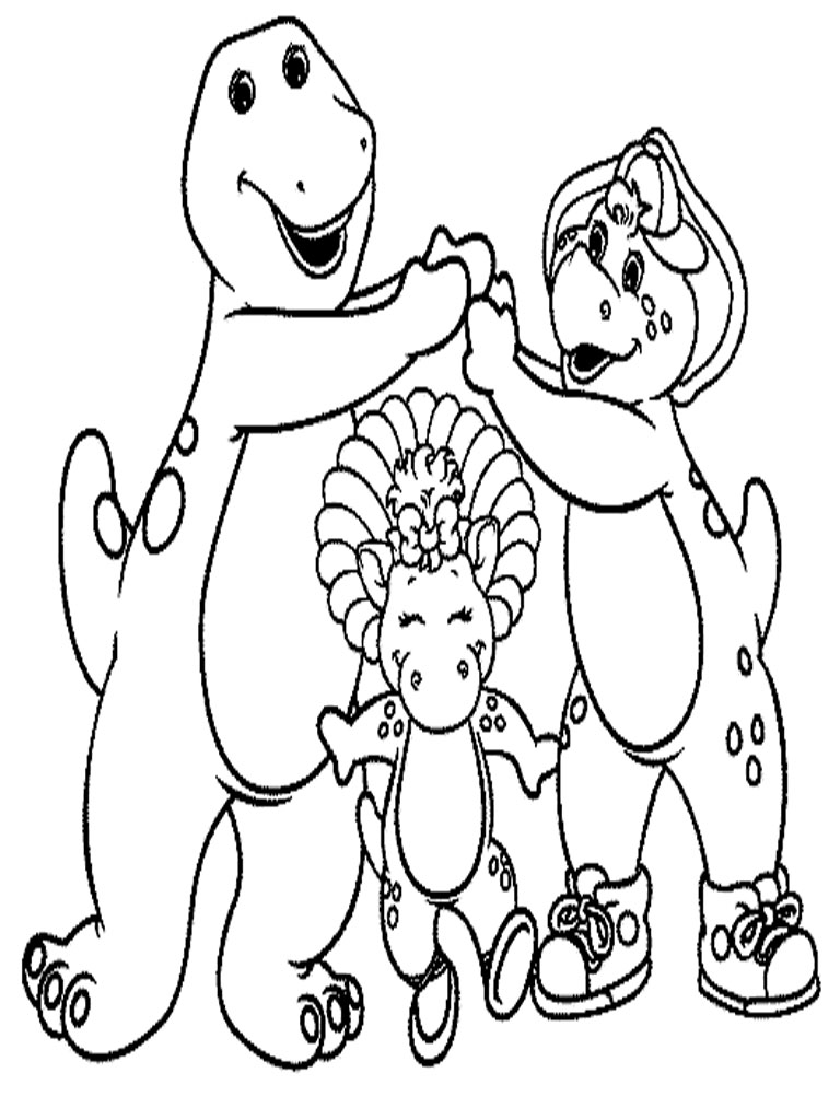 Barney And Friends Coloring Pages - Eskayalitim