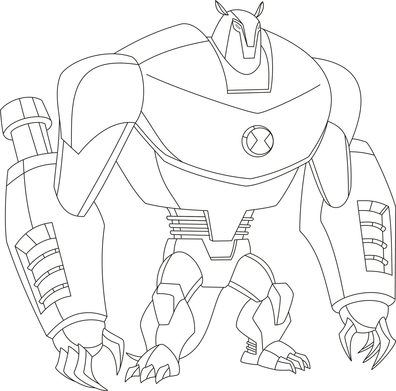 ben 10 coloring pages alien force coloring pages