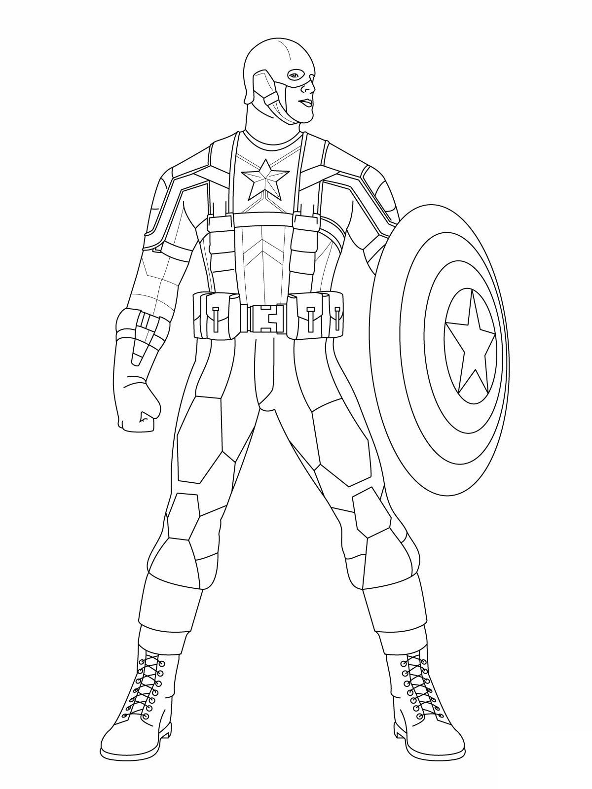 free coloring pages captain america