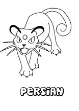 Persian Pokemon Coloring Pages