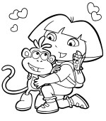 Free Printable Dora Explorer Coloring Pages For Kids
