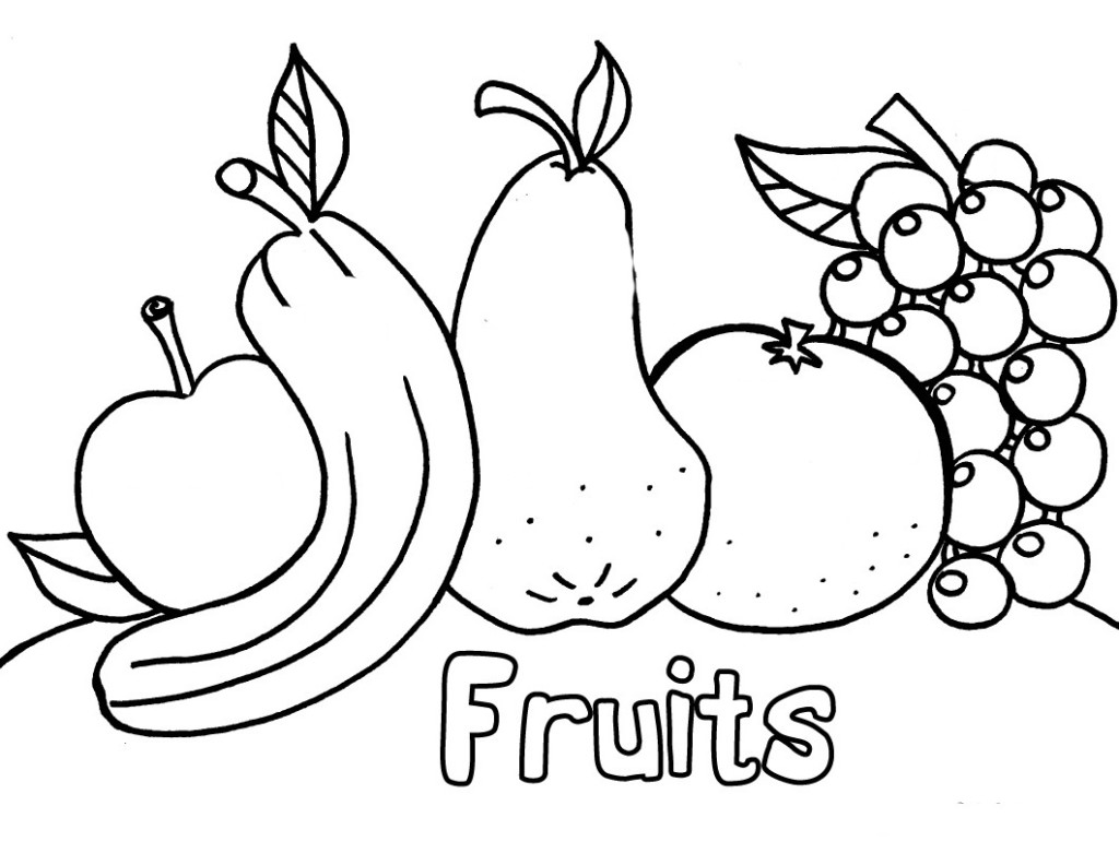 Fruit coloring pages printable