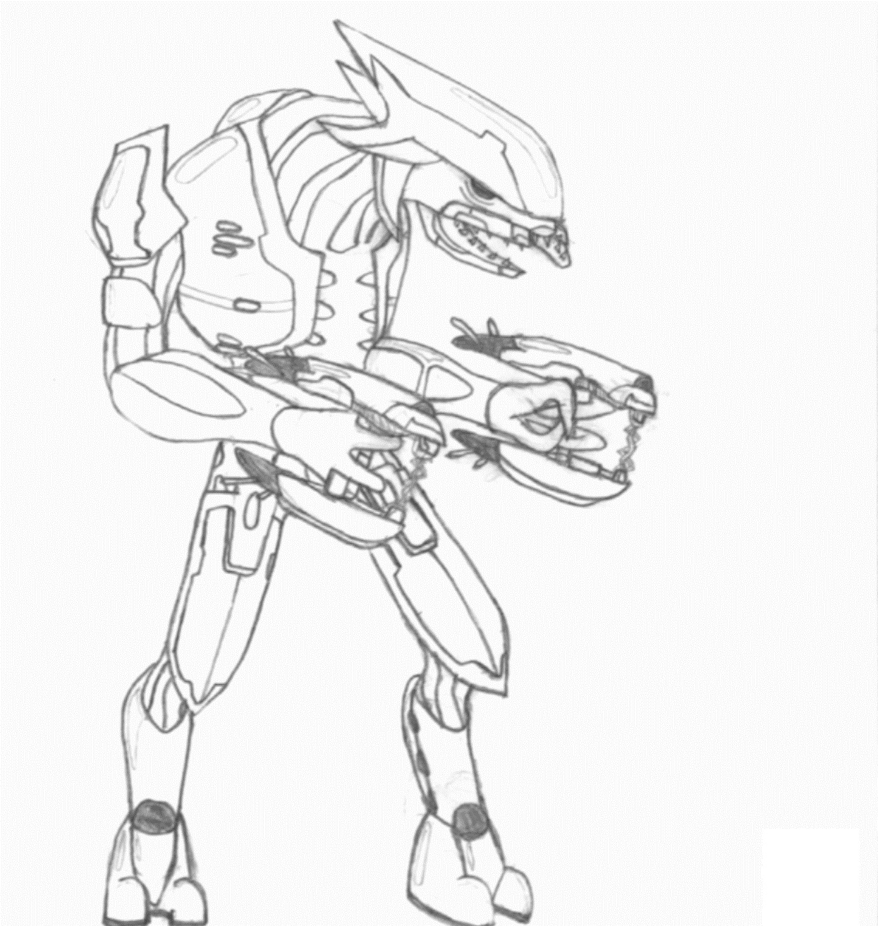 Halo 4 coloring pages -  Halo Coloring Pages To Print Download
