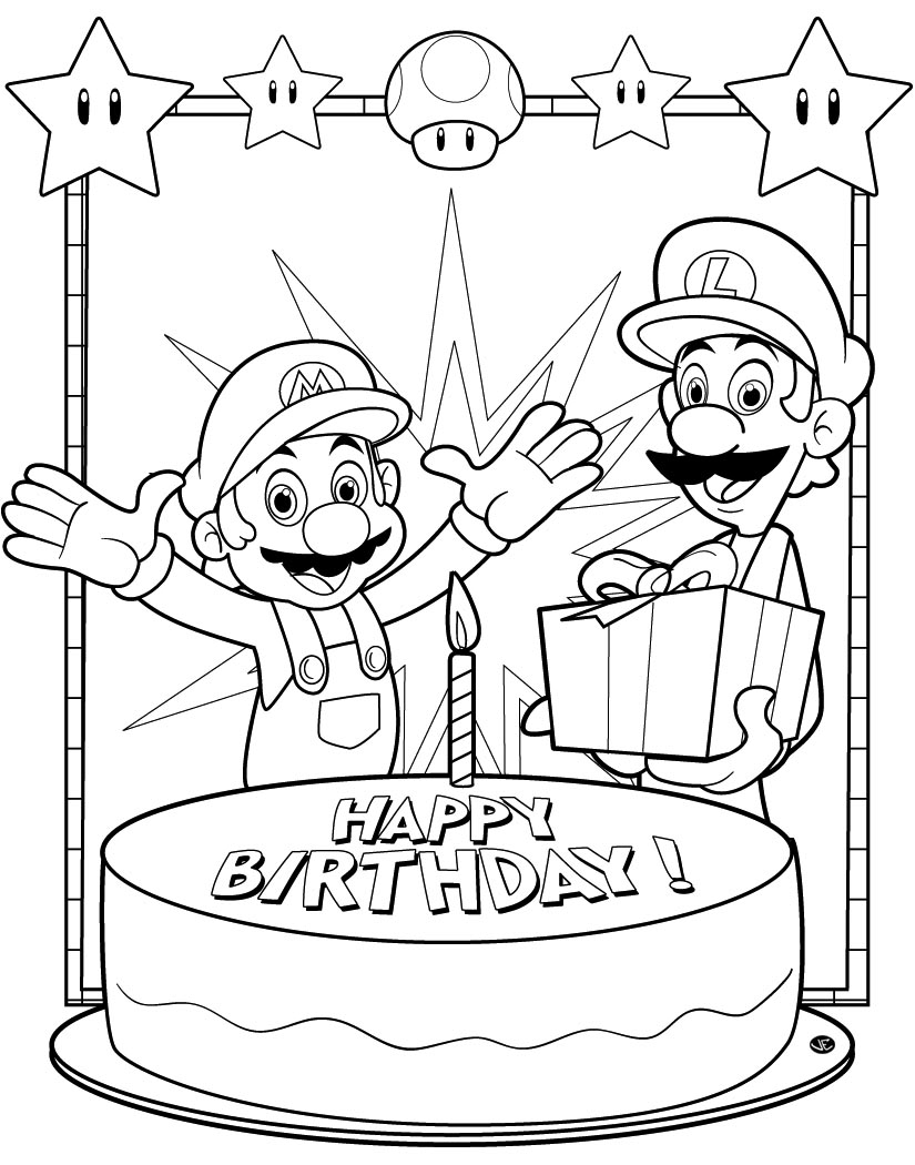 Printable coloring pages happy birthday mom - Free Coloring Pages Happy Birthday Mom Free Coloring Pages Birthday Happy Birthday Daddy Coloring Pages