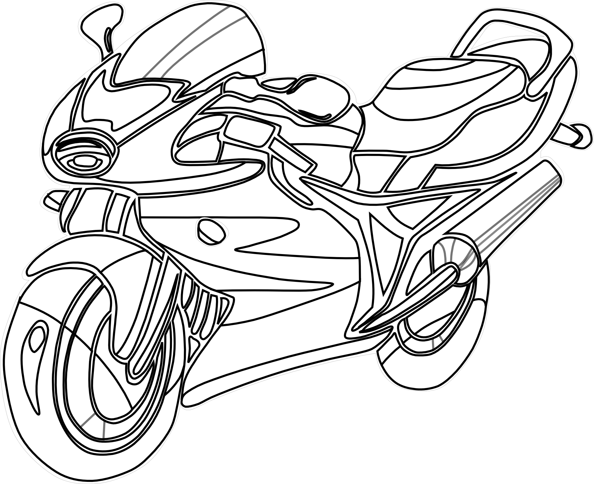 Gallery Of Coloring Sheets Motorcycle