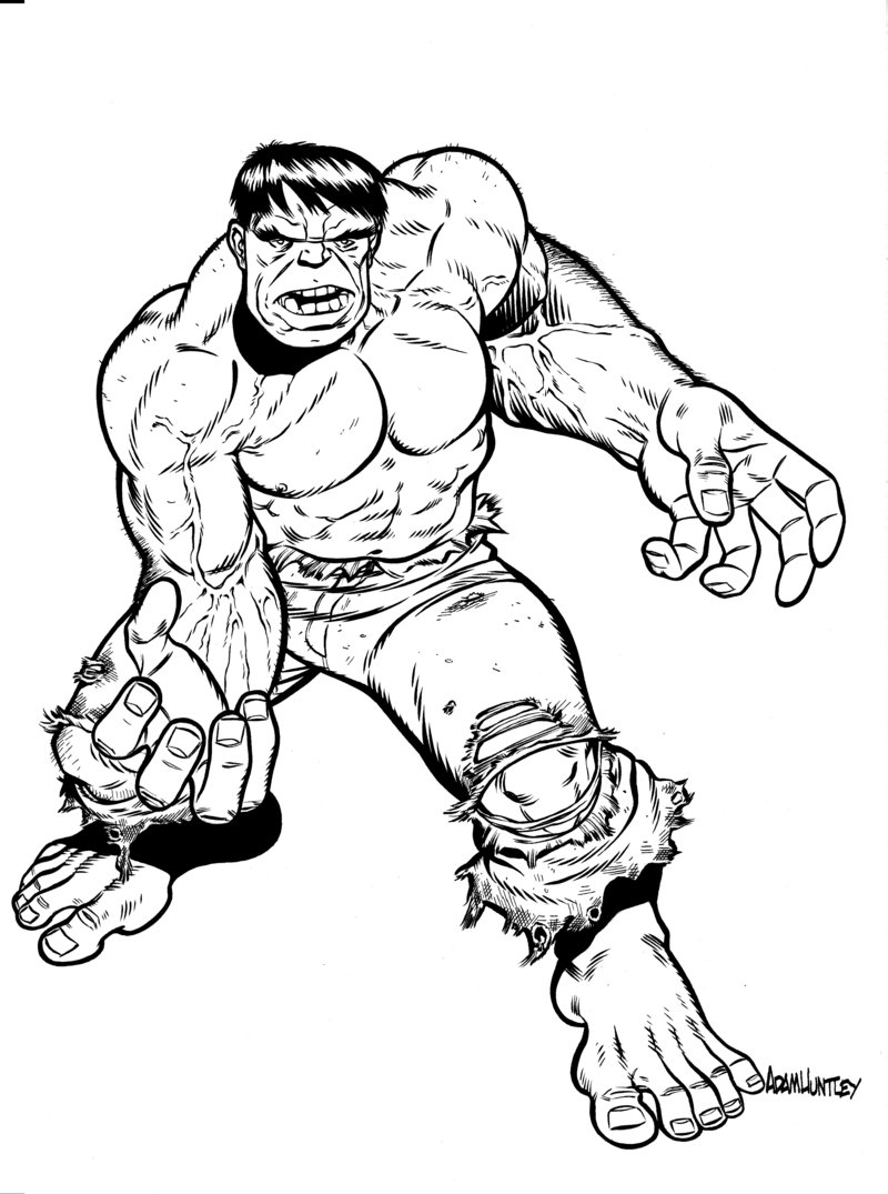 Incredible hulk printable coloring pages
