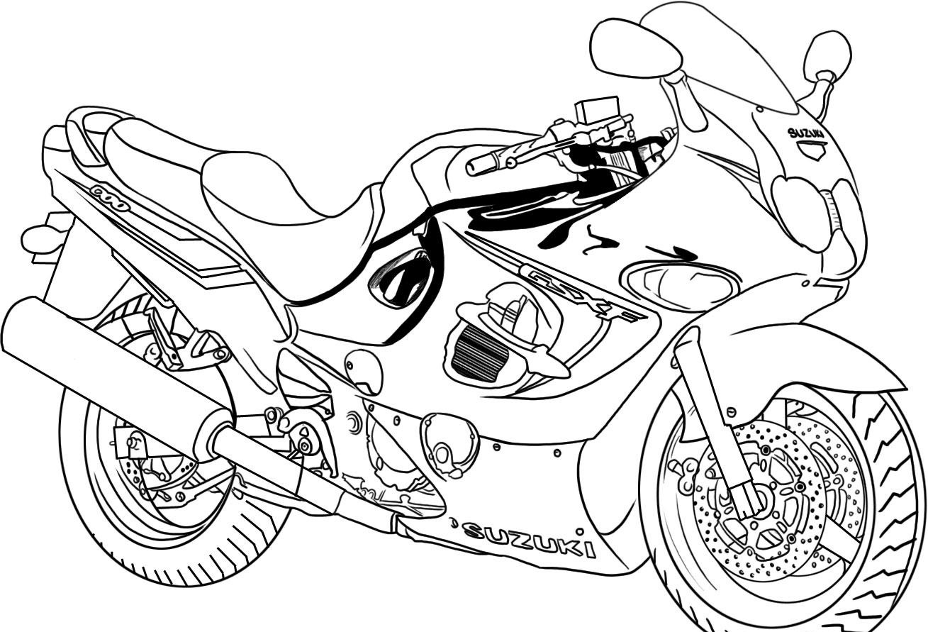 Printable coloring in sheets -  Motorcycle Printable Coloring Pages Download