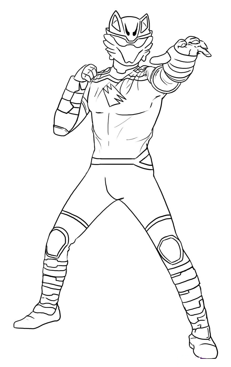 Online coloring power rangers -  Power Rangers Dino Thunder Coloring Download