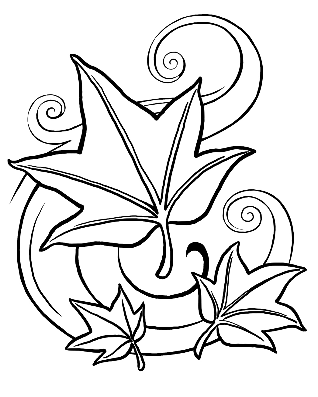 Co coloring page for leaves - Co Coloring Page For Leaves 5