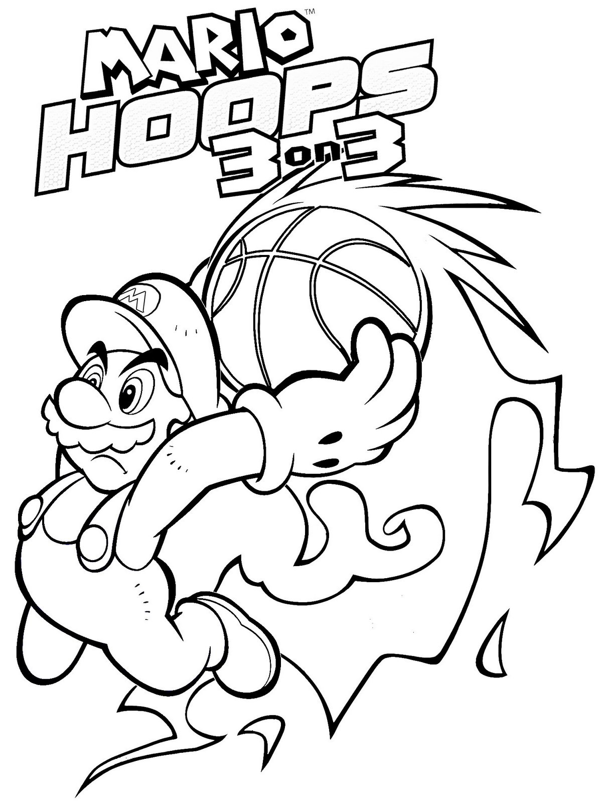 printable mario coloring pages download - Mario Kart Coloring Pages