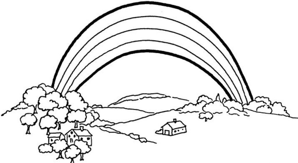List of Synonyms and Antonyms of the Word Rainbow Sketch - best of coloring pages of rainbows to print