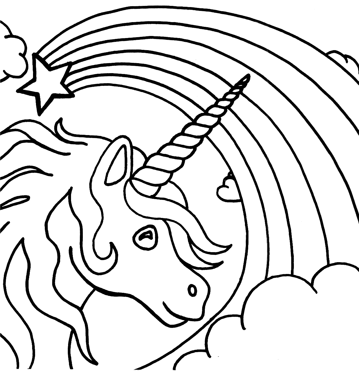Unicorn family coloring pages - Unicorn Coloring Pages For Kids