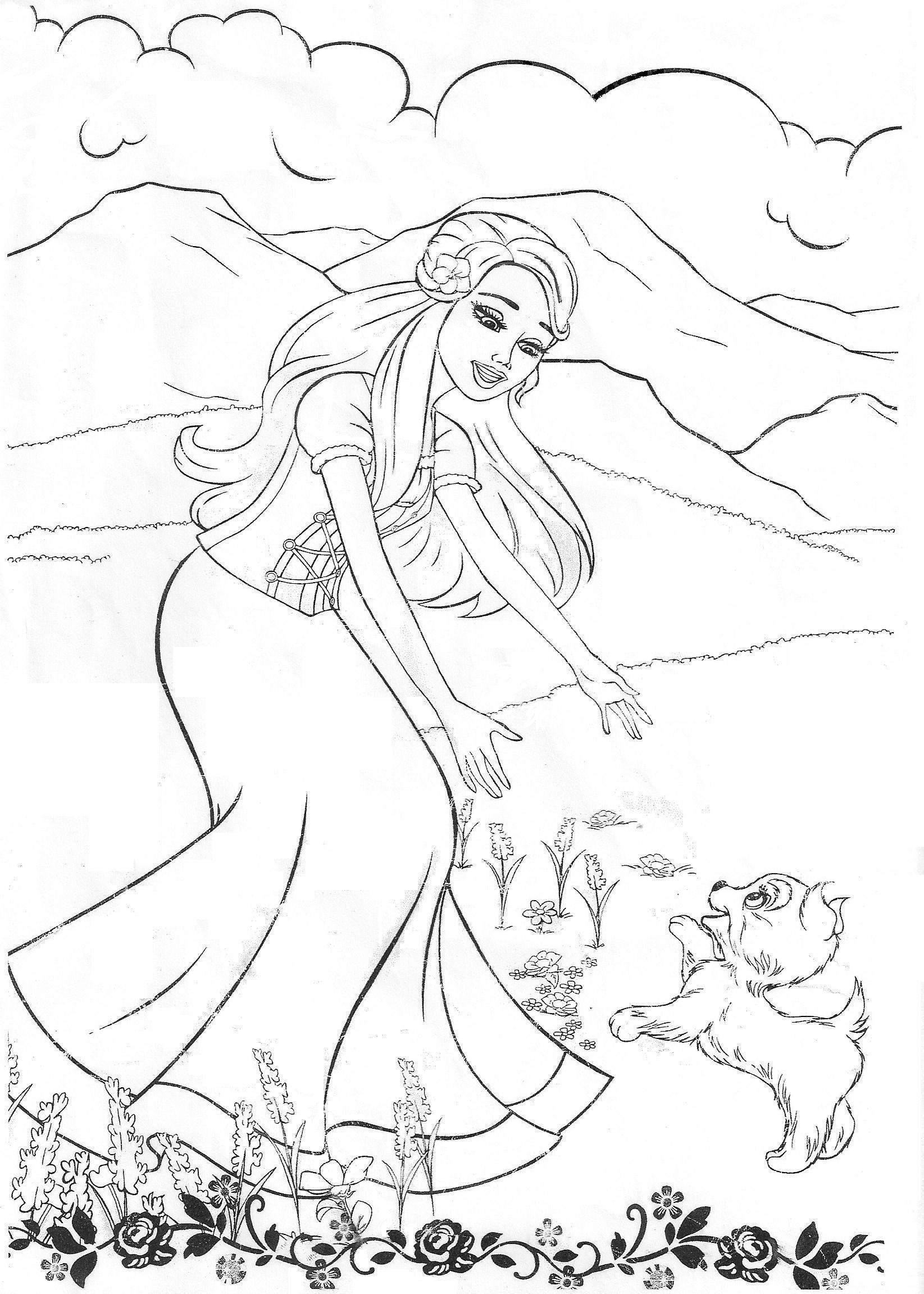 free coloring pages barbie - Barbie Dream House Coloring Pages