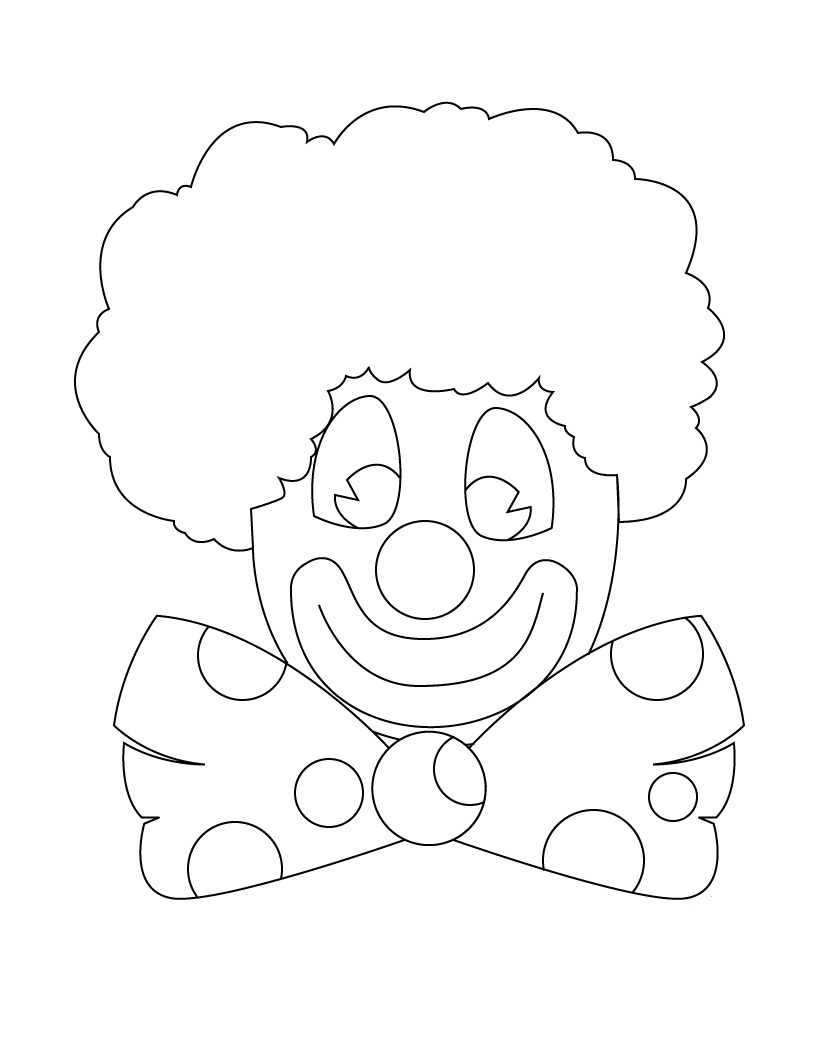 Clown Coloring Pages - Eskayalitim
