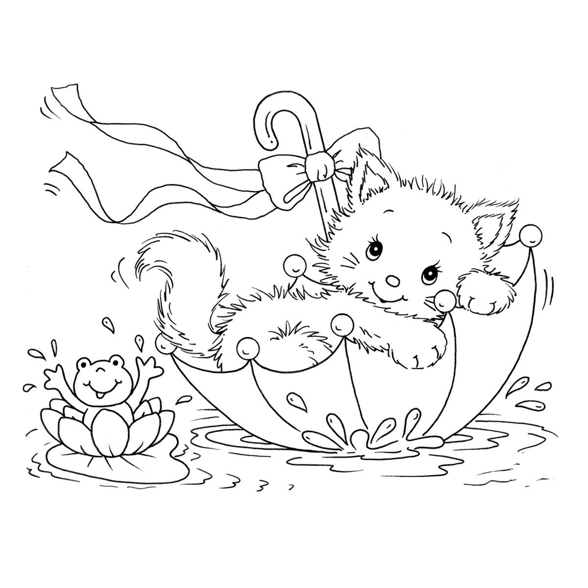 coloring pages cat download