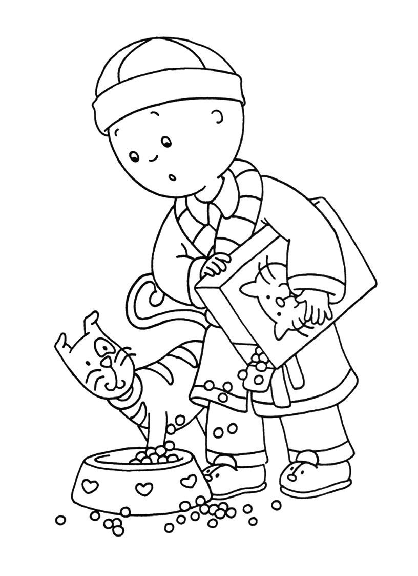Free caillou coloring page picture
