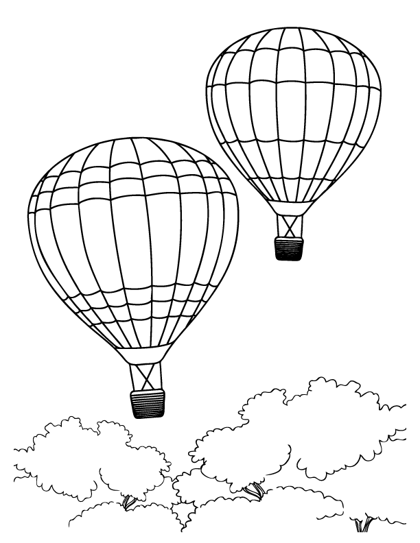 Free Hot Air Balloon Coloring Pages SaveEnlarge