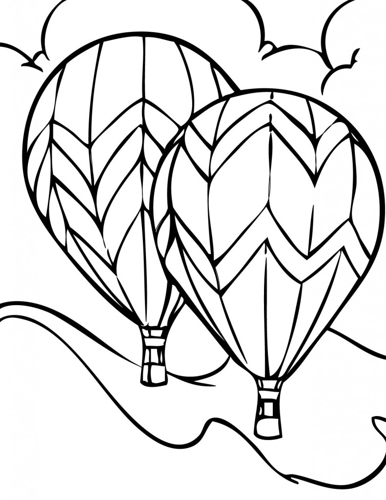 Coloring Pages Balloons
