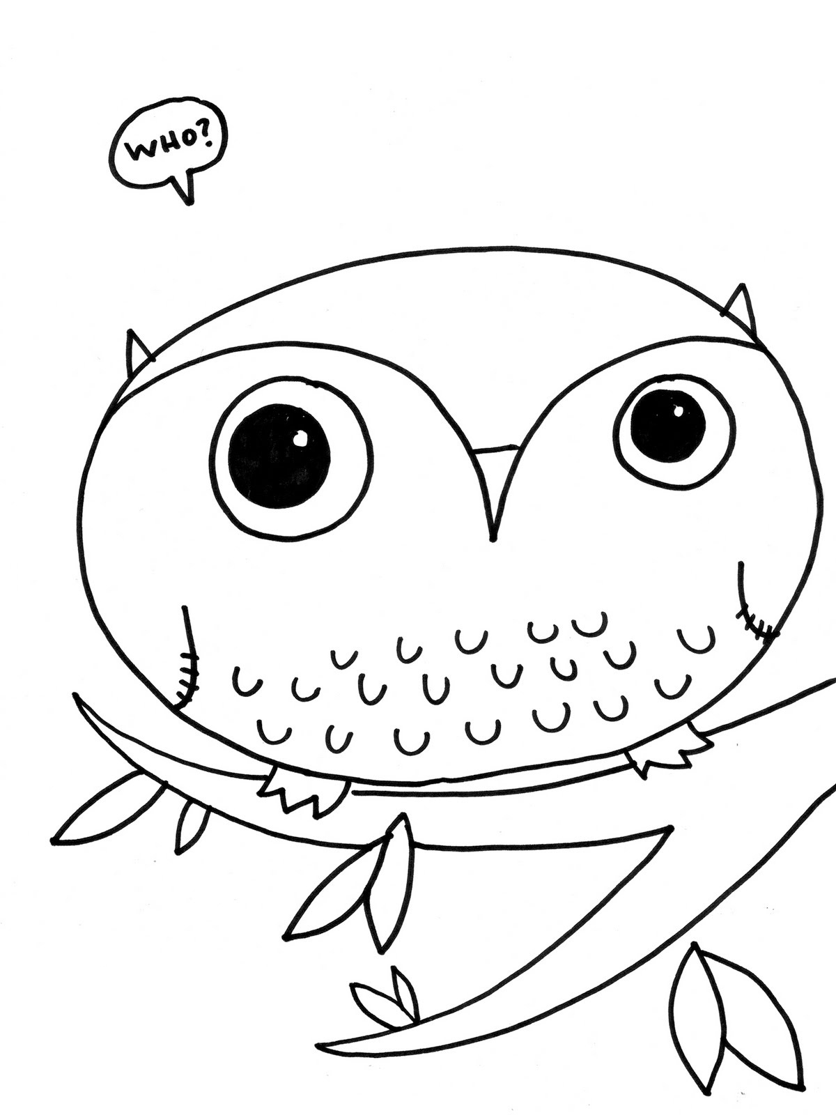 Owl coloring pages free