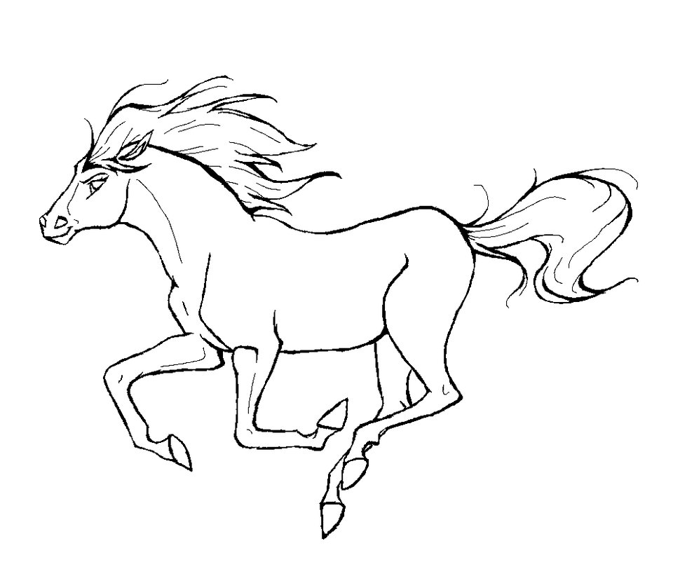 realistic horse coloring pages download