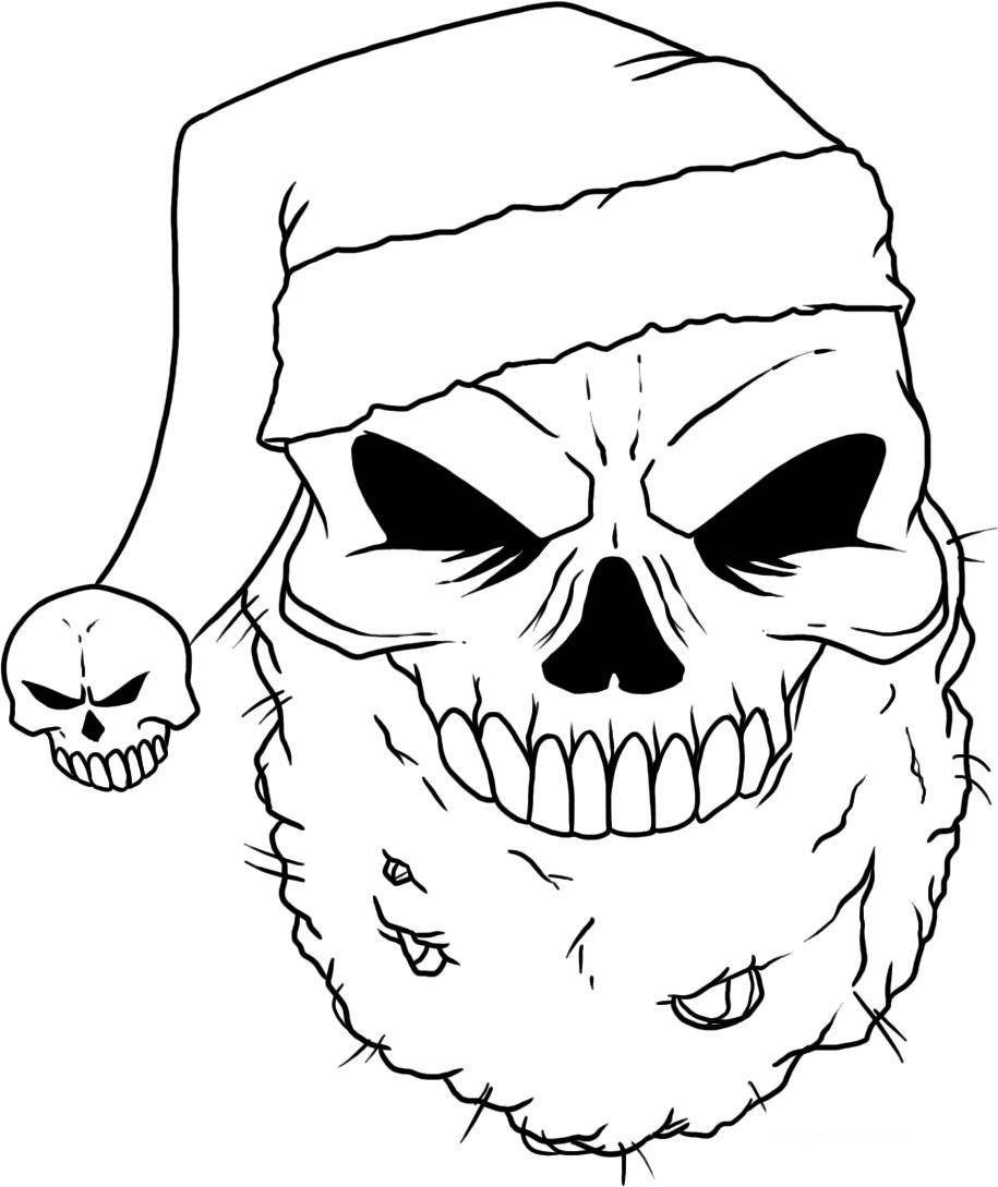 Skull coloring page pictures