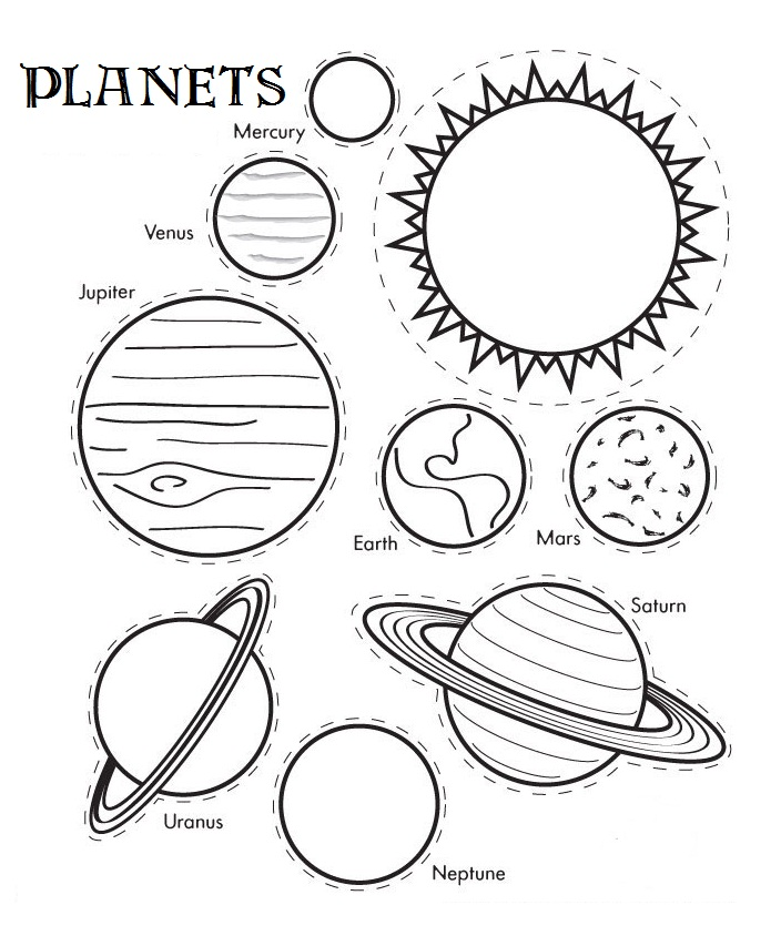 Printable Solar System coloring page Free PDF download at   - best of coloring pages for shapes and colors