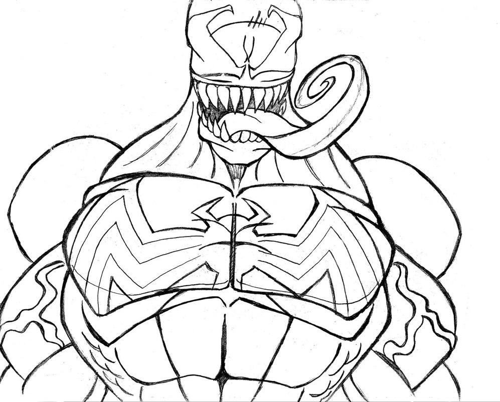 Free printable venom coloring pages