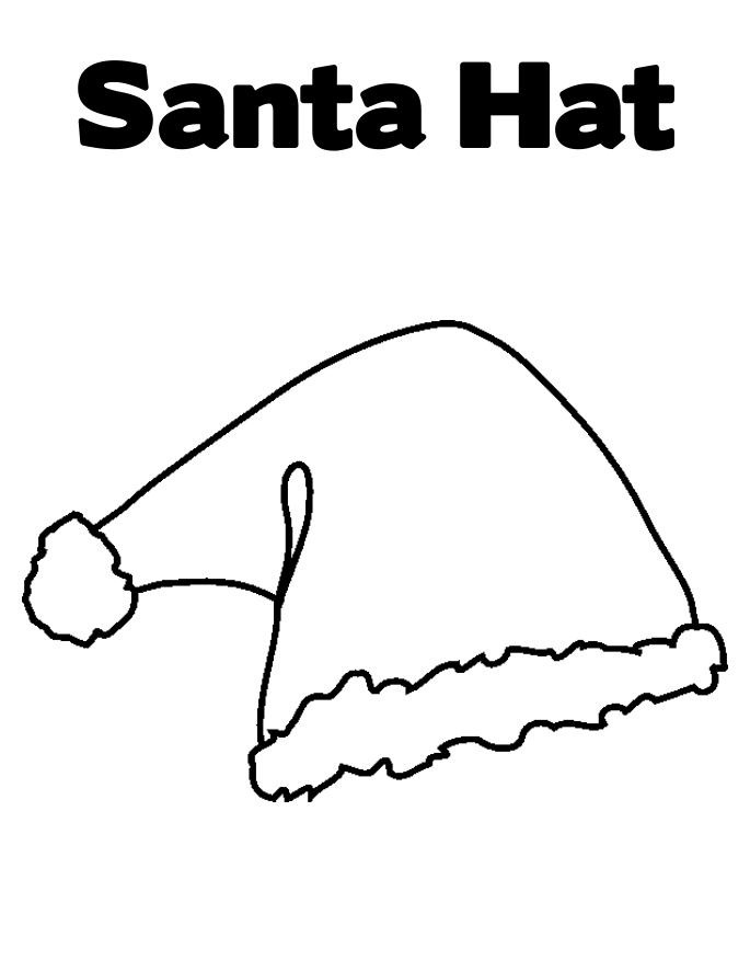 Free Printable Santa Hat Coloring Pages For Kids