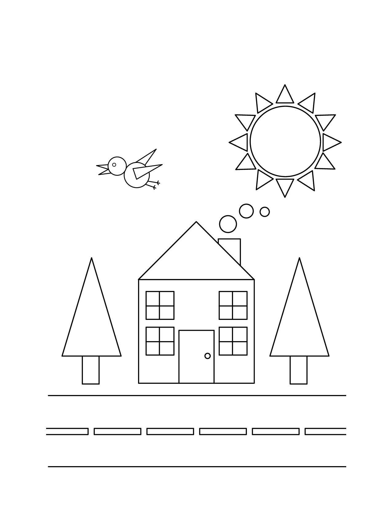 Coloring pages 3d shapes -  Shapes Coloring Pages Download