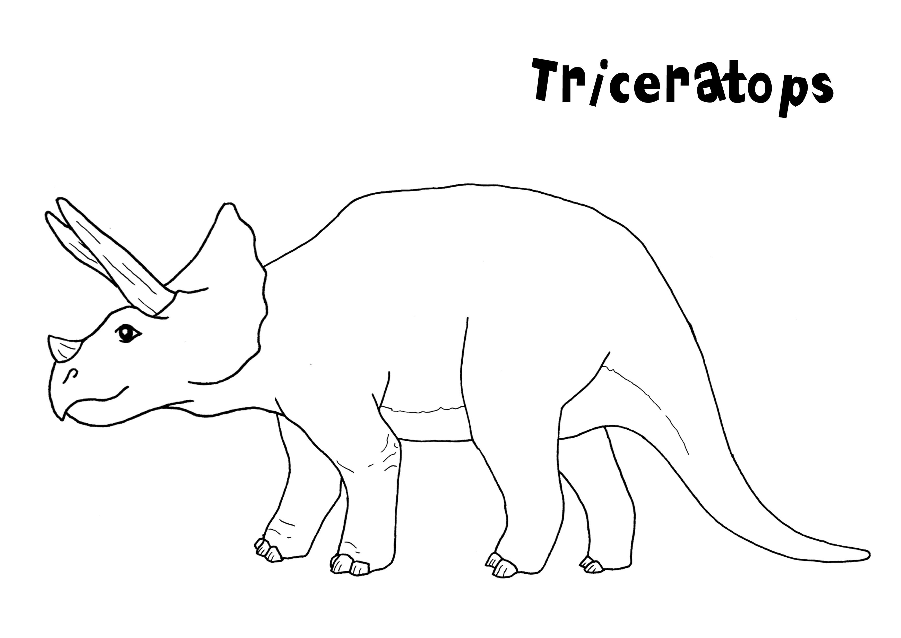 T rex coloring pages - T Rex Coloring Pages Free Printable Triceratops Coloring Pages For Kids Download
