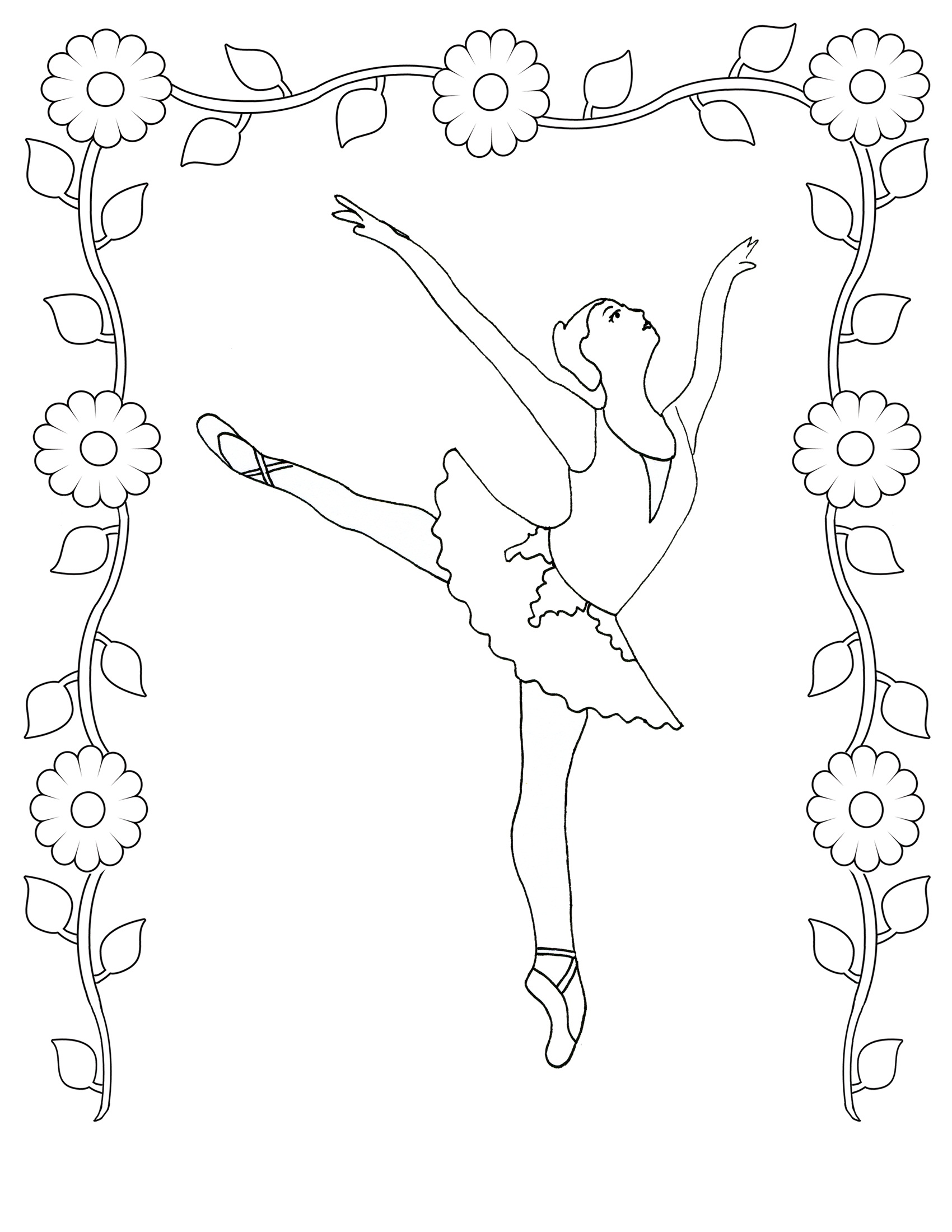 Free Barbie Ballerina Coloring Pages ~ Alltoys for .