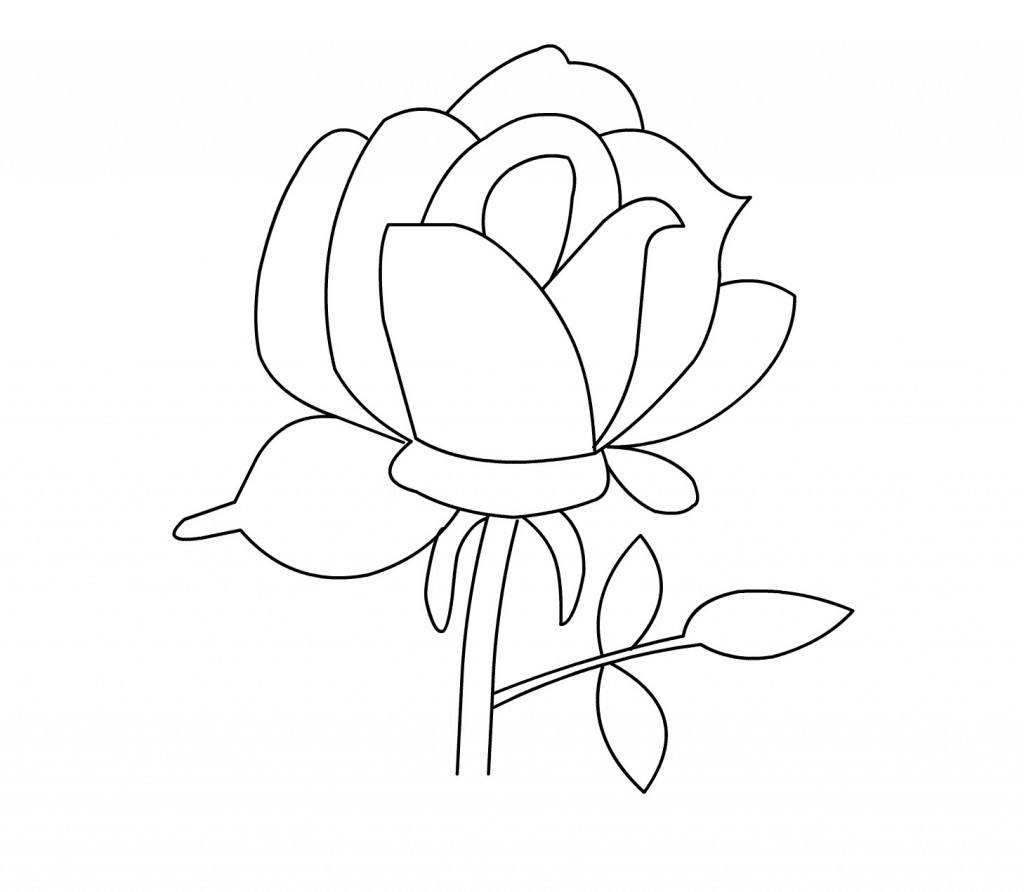 √ Free Printable Roses Coloring Pages For Kids