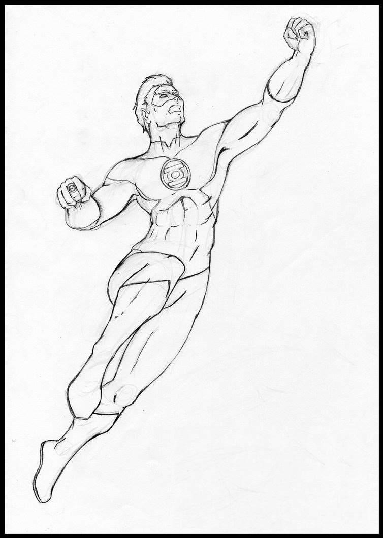 free coloring pages green lantern - Green Arrow Coloring Pages