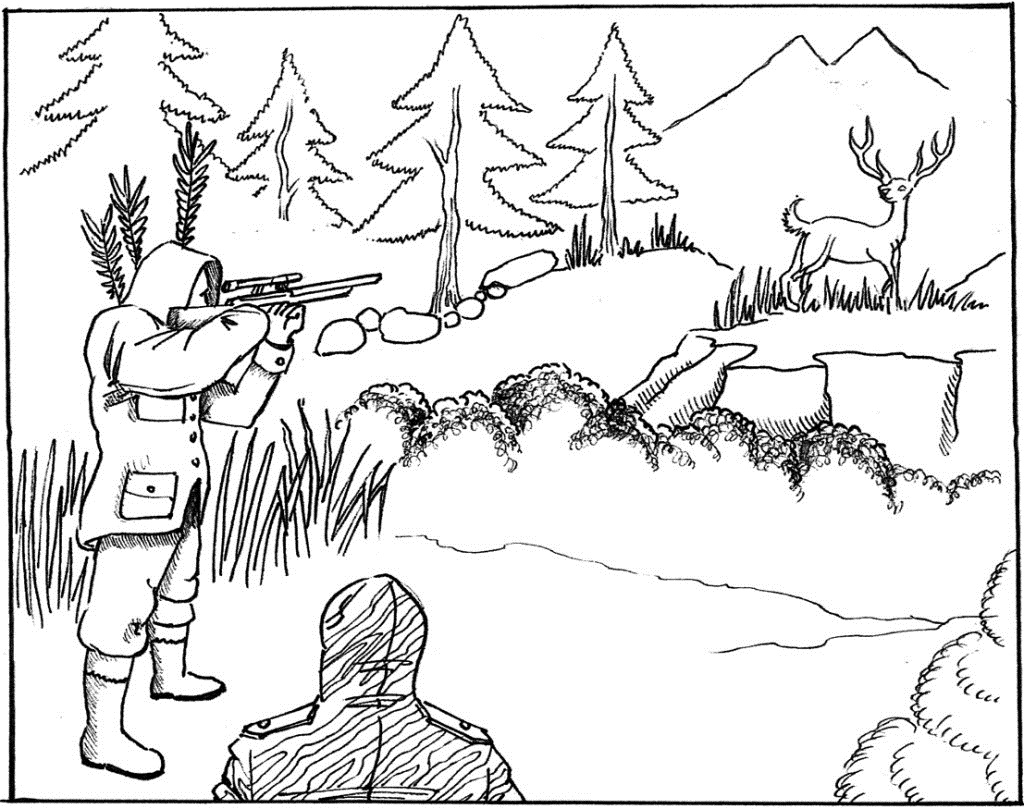Free printable hunting coloring pages hunting coloring pages for kids