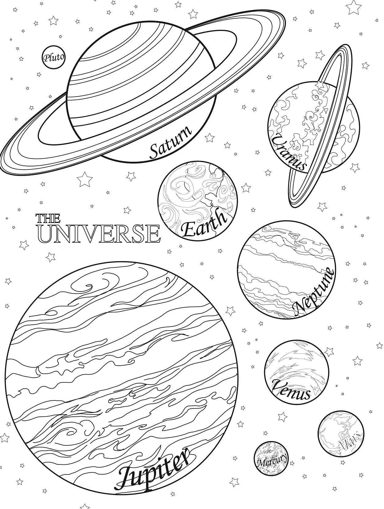 coloring pages planets
