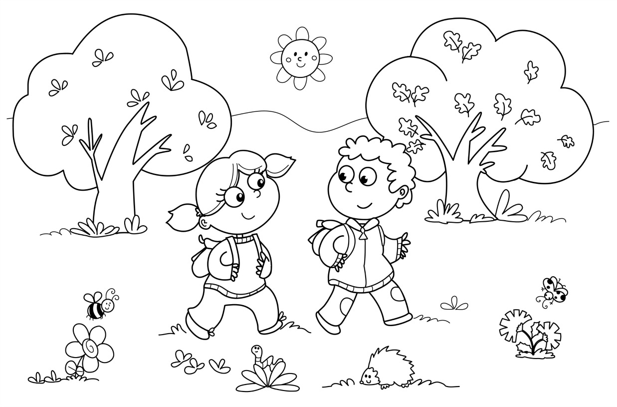 Coloring pages kindergarten