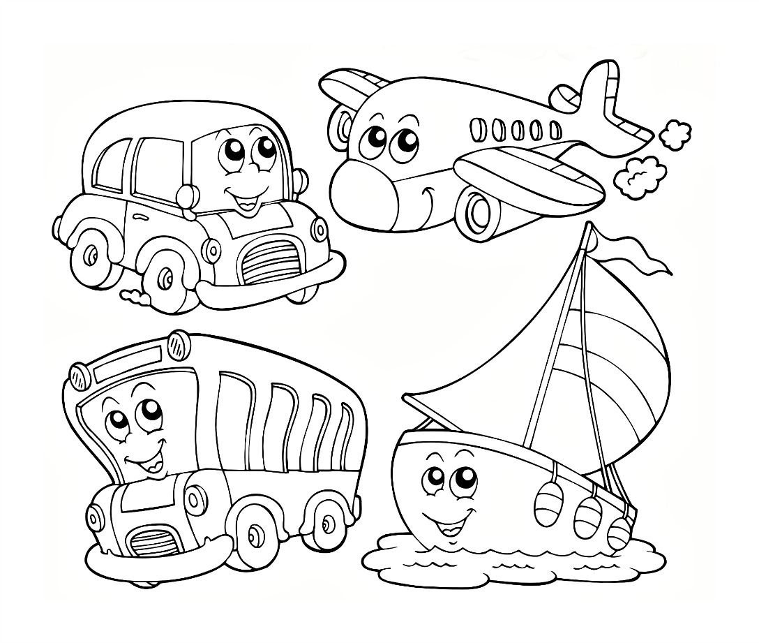 free coloring page for kindergarten