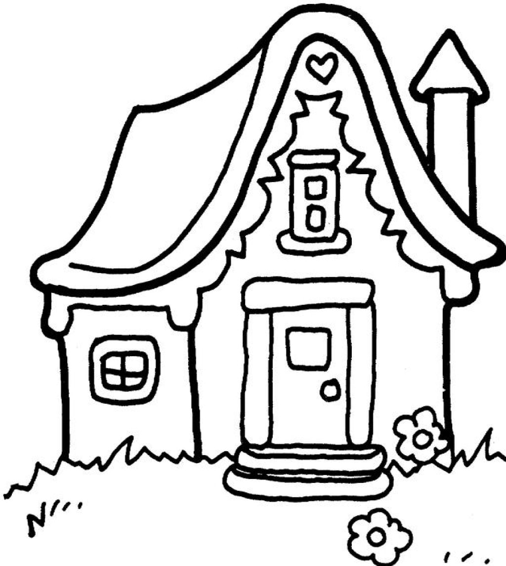 Free coloring pages gingerbread house - Free Coloring Pages Houses Gingerbread House Coloring Pages For Kids Download