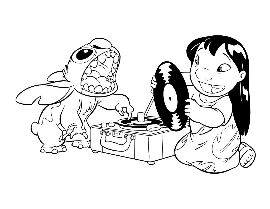stitch coloring pages download