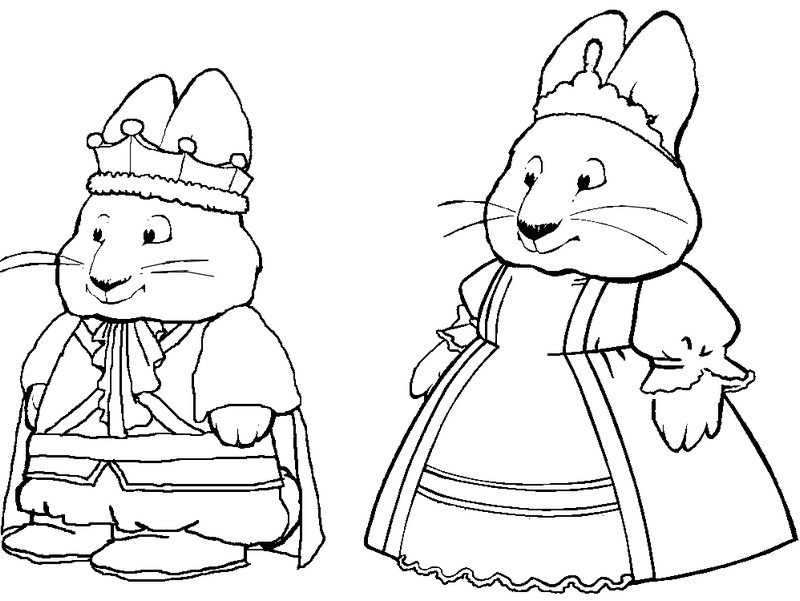 Max Ruby Coloring Pages - Eskayalitim