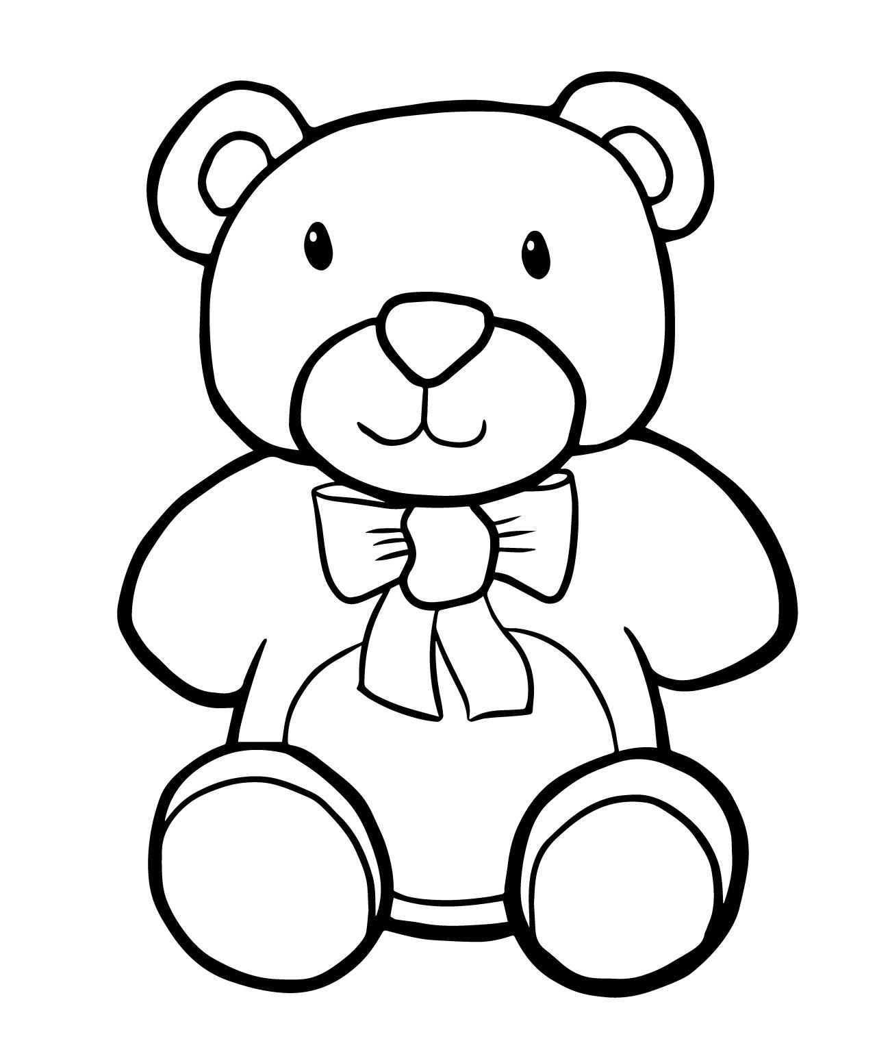 Teddy bear coloring sheets