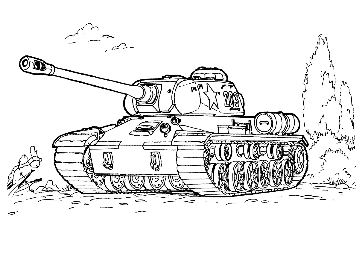 Army tank coloring pages