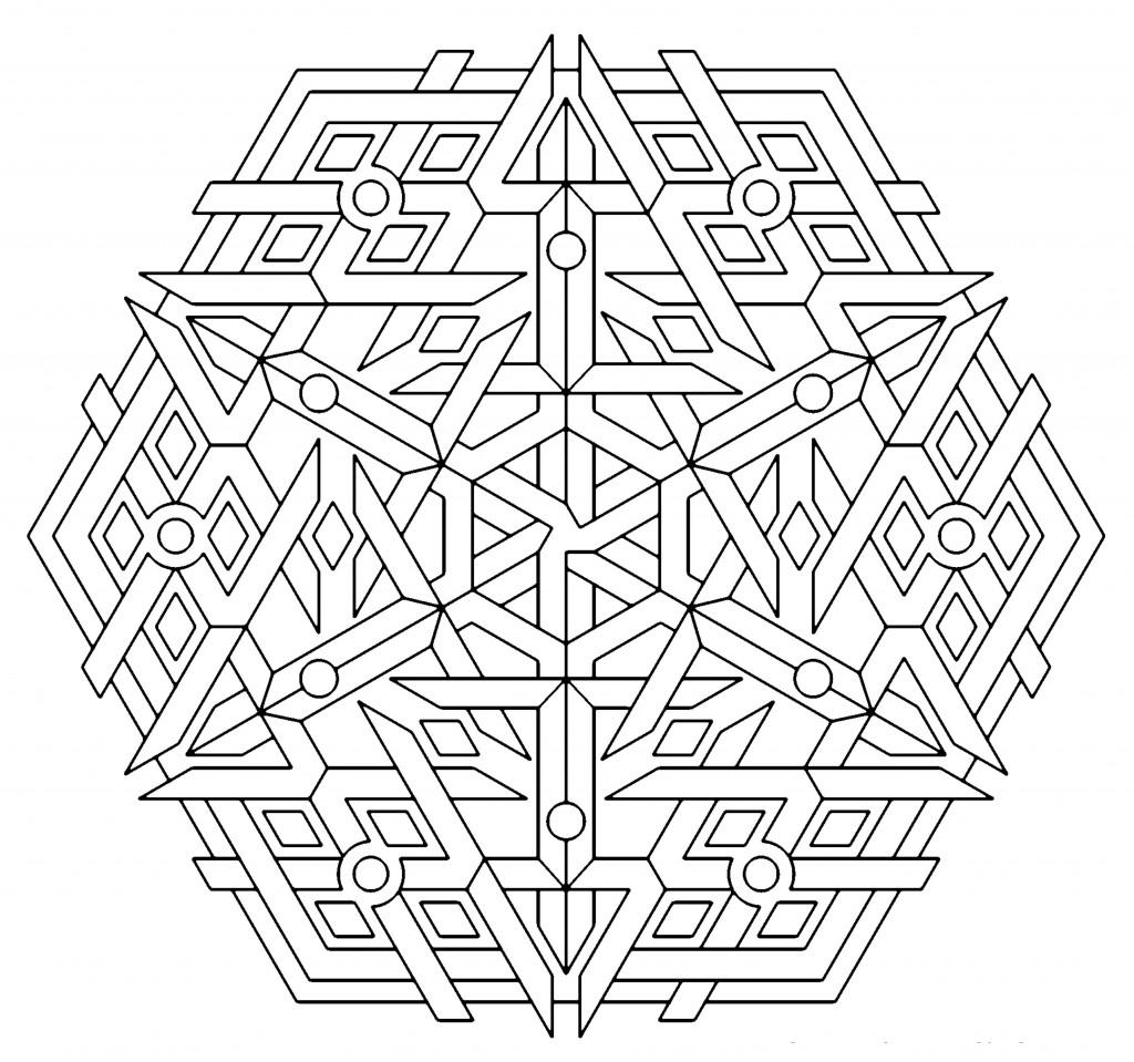 Geometric shapes coloring sheet - Geometric Shapes Coloring Sheet Download Image