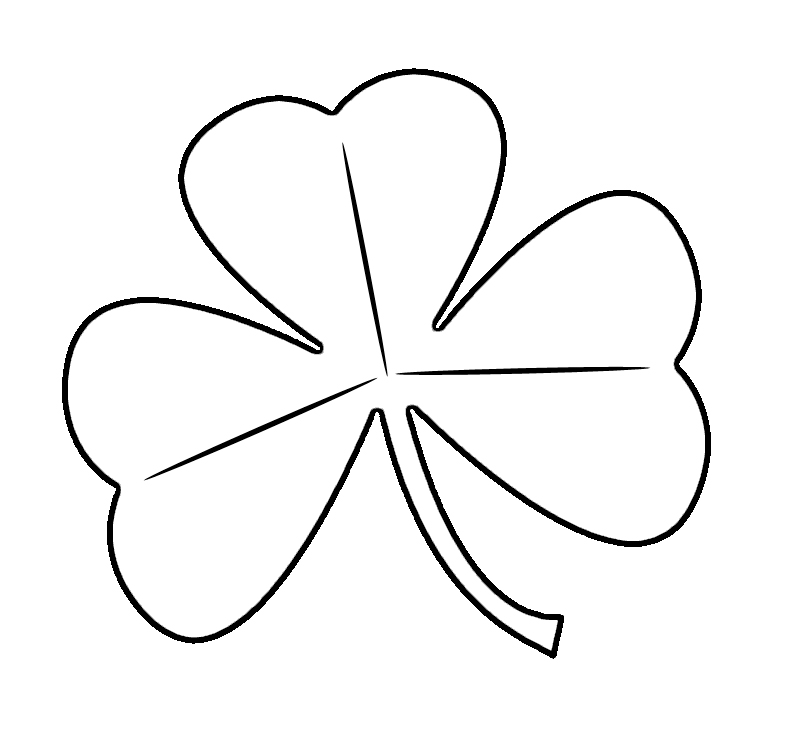 Free Printable Shamrock Coloring Pages For Kids - shamrock color pages