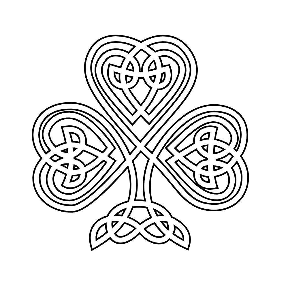 printable coloring pages shamrock - Shamrock Coloring Pages Printable