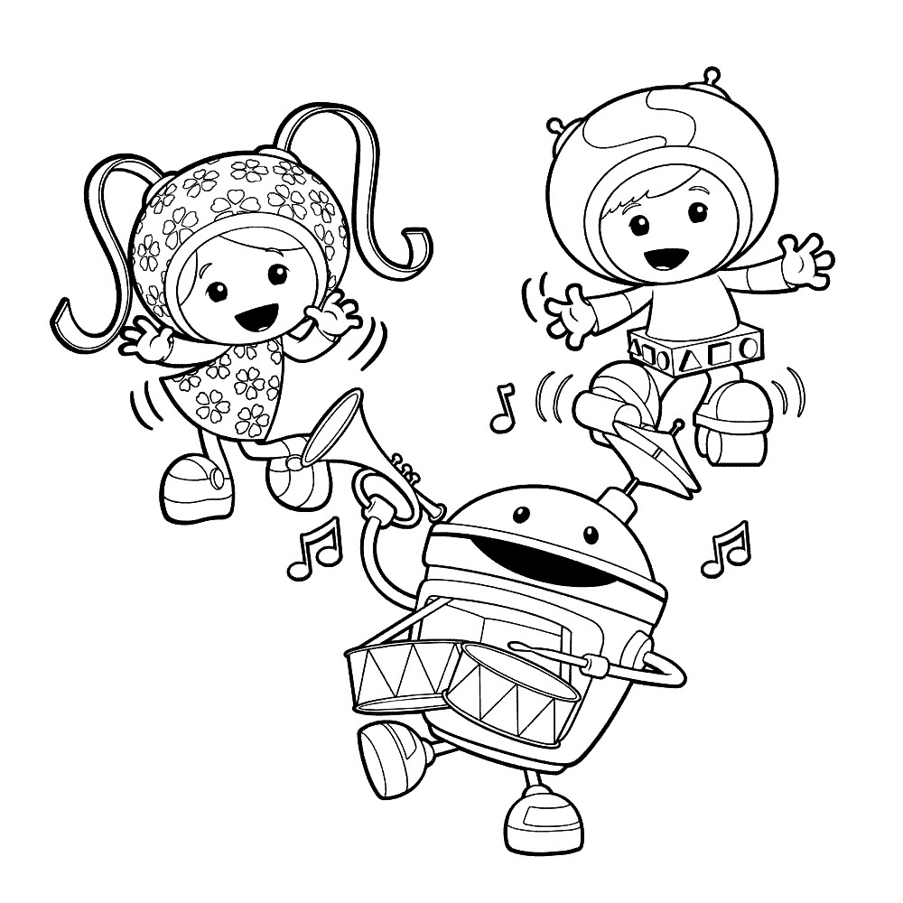 Printable Coloring Pages Umizoomi