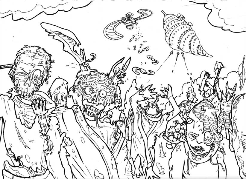 gallery zombie coloring pictures