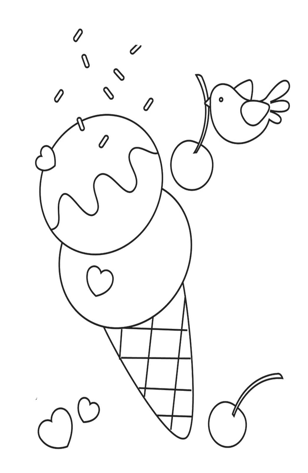 Ice Cream Sandwich Coloring Pages Sketch Coloring Page