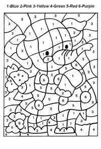 Color By Number Worksheets Printable - free printable ...
