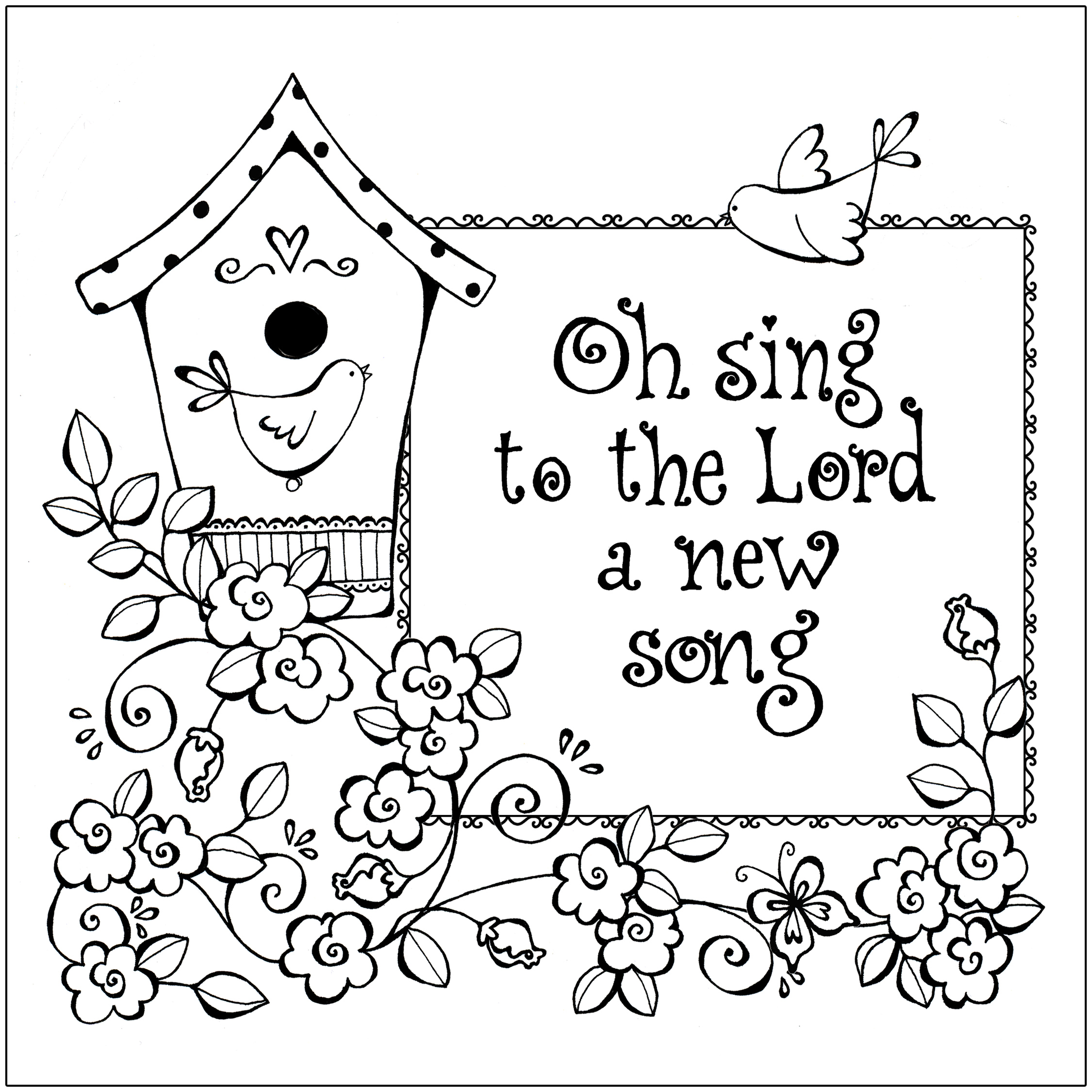 Christian coloring page printable images